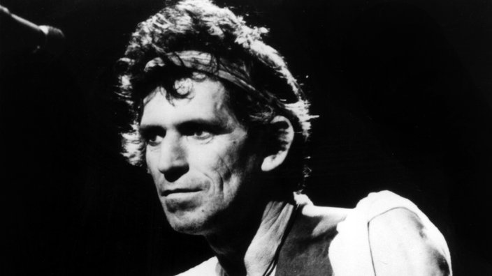 Keith Richards bei einem Konzert 1987.